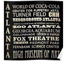 Atlanta Georgia Famous Landmarks Poster