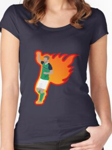 Will Grigg's on Fire Women's Fitted Scoop T-Shirt