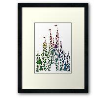Happiest Rainbow Castle on Earth Framed Print