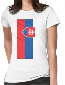 Slovakia Flag Womens Fitted T-Shirt