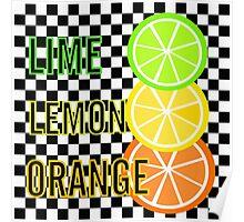 Lime Lemon Orange Poster