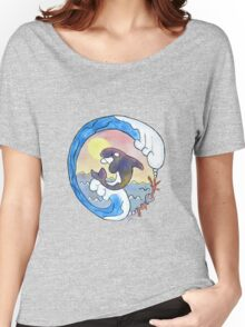 Playful Orca Watercolor Women's Relaxed Fit T-Shirt