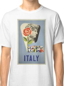 Italy Vintage Travel Poster Classic T-Shirt