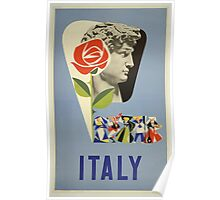 Italy Vintage Travel Poster Poster