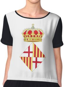 Coat of Arms of Barcelona  Chiffon Top