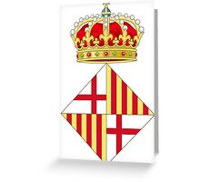 Coat of Arms of Barcelona  Greeting Card