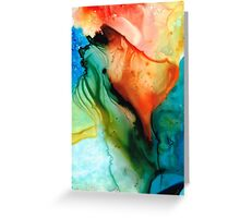 My Cup Runneth Over - Abstract Art By Sharon Cummings Greeting Card