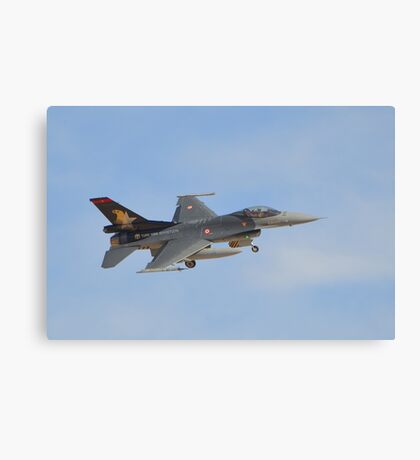 Turkish Air Force F-16 Fighting Falcon Canvas Print
