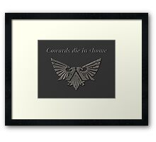 Wh40k Dark Grey Eagle Framed Print