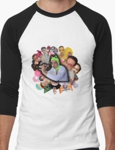 Papa Franku Men's Baseball ¾ T-Shirt