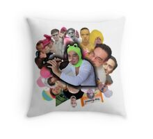 Papa Franku Throw Pillow