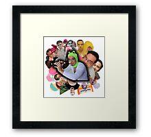 Papa Franku Framed Print