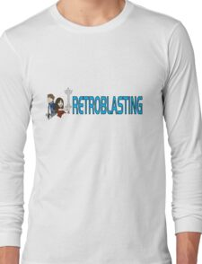 RetroBlasting Logo Light Long Sleeve T-Shirt