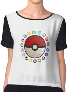 Pokemon - Pokeball Chiffon Top
