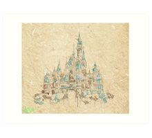 Enchanted Storybook Castle Art Print