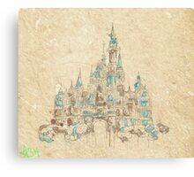 Enchanted Storybook Castle Canvas Print