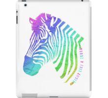 Fight Like a Zebra - Paper Texture iPad Case/Skin