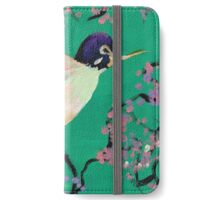 Hummingbird in the Cherry Blossoms iPhone Wallet/Case/Skin