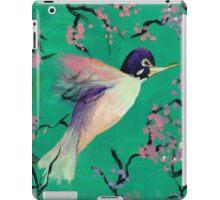 Hummingbird in the Cherry Blossoms iPad Case/Skin