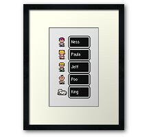 Earthbound - Characters with names Framed Print