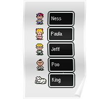 Earthbound - Characters with names Poster