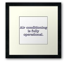 Air Conditioning Framed Print