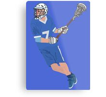 Male Lacrosse Player Metal Print