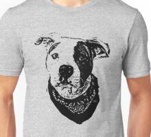 Pitbull with bandana Unisex T-Shirt