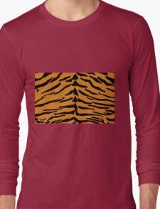 Tiger Skin Pattern Long Sleeve T-Shirt