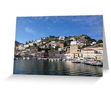 Greek island of Hydra Greeting Card
