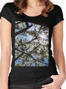 Flowers and Sun Women's Fitted Scoop T-Shirt