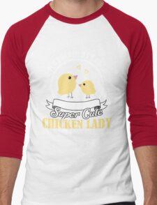 Super Cute Chicken Lady Men's Baseball ¾ T-Shirt