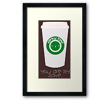 Coffee | Kawaii Cuties Framed Print