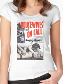 Housewives on Call Retro 50's Movie Women's Fitted Scoop T-Shirt