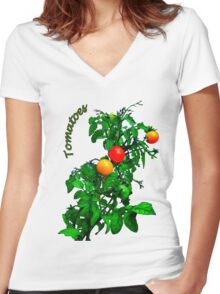 Fruit Tomatoes Women's Fitted V-Neck T-Shirt