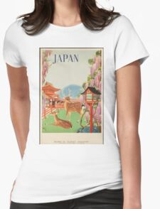 Japan Vintage Travel Poster Womens Fitted T-Shirt