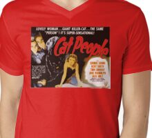 Catpeople Caught In The Night Mens V-Neck T-Shirt