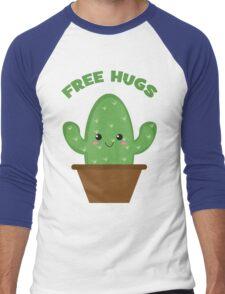 Free Hugs (Cactus) Men's Baseball ¾ T-Shirt