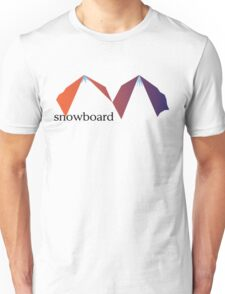 Snowboard the Mountains Unisex T-Shirt
