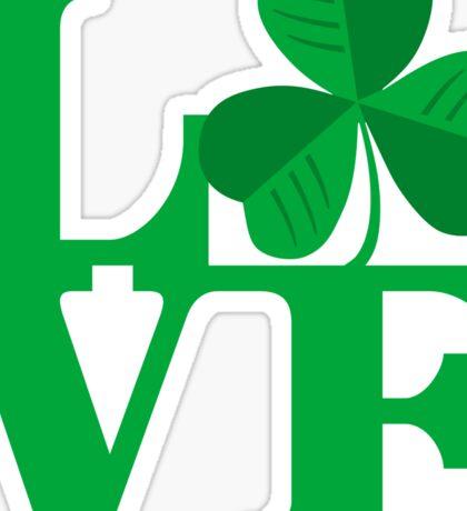 Shamrock Love Sticker