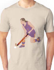 Female Field Hockey Player Unisex T-Shirt