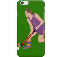 Female Field Hockey Player iPhone Case/Skin