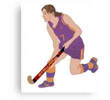 Female Field Hockey Player Canvas Print