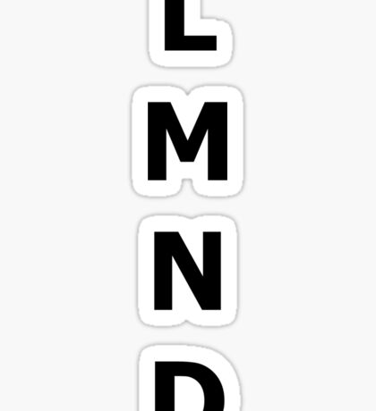 Lemond Monochrome Minimalism Print  Sticker