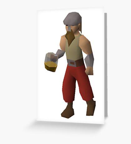 Drunken Dwarf Greeting Card