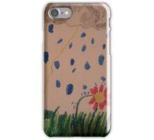 flower in the rain iPhone Case/Skin