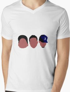 Chance The Rapper Mixtape Faces Mens V-Neck T-Shirt