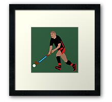 Male Field Hockey Player Framed Print