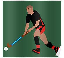 Male Field Hockey Player Poster