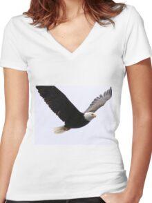 Bald Eagle Women's Fitted V-Neck T-Shirt